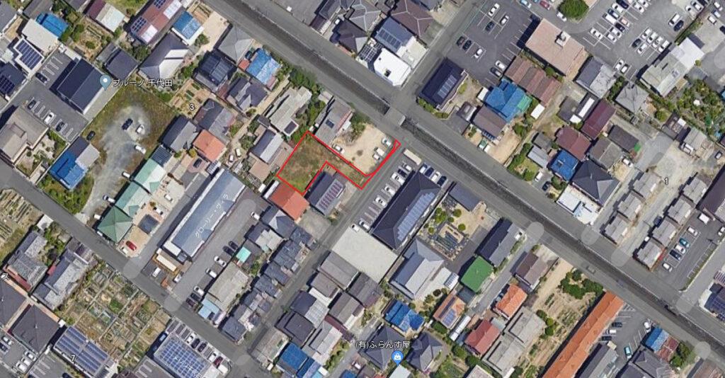 千代田町2丁目航空写真